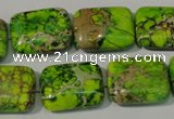 CDI949 15.5 inches 15*20mm rectangle dyed imperial jasper beads