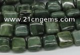 CDJ04 15.5 inches 10*10mm square Canadian jade beads wholesale