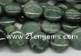 CDJ09 15.5 inches 14mm flat round Canadian jade beads wholesale