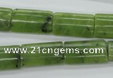 CDJ156 15.5 inches 12*20mm flat tube Canadian jade beads wholesale