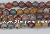 CDJ400 15.5 inches 4mm round sonoran dendritic jasper beads