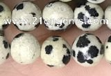 CDM92 15.5 inches 8mm round dalmatian jasper beads wholesale
