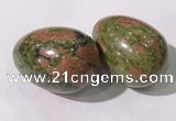 CDN1379 35*45mm egg-shaped unakite decorations wholesale