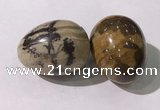 CDN1402 35*45mm egg-shaped jasper decorations wholesale