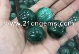 CDN21 25mm round natural malachite gemstone decorations