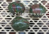 CDN309 30*40mm egg-shaped unakite decorations wholesale