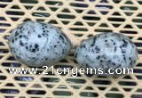 CDN349 35*50mm egg-shaped sesame jasper decorations wholesale