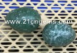 CDN352 35*50mm egg-shaped Qinghai jade decorations wholesale