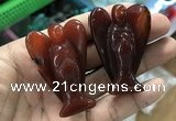 CDN499 35*50mm angel red agate decorations wholesale