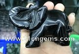 CDN537 35*80*55mm elephant black agate decorations wholesale