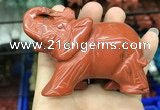CDN538 35*80*55mm elephant red jasper decorations wholesale