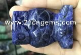 CDN573 35*50mm owl sodalite decorations wholesale
