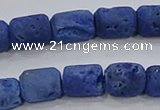 CDQ603 8 inches 6*8mm drum druzy quartz beads wholesale