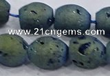 CDQ626 8 inches 10*12mm rice druzy quartz beads wholesale