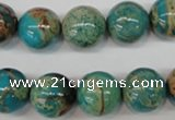 CDS26 15.5 inches 14mm round dyed serpentine jasper beads