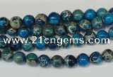 CDT265 15.5 inches 6mm round dyed aqua terra jasper beads