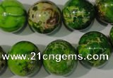 CDT923 15.5 inches 16mm round dyed aqua terra jasper beads