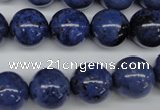 CDU105 15.5 inches 14mm round blue dumortierite beads wholesale