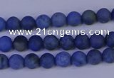 CDU300 15.5 inches 4mm round matte blue dumortierite beads