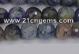 CDU310 15.5 inches 8mm faceted round blue dumortierite beads