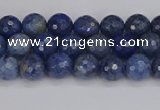 CDU322 15.5 inches 4mm faceted round blue dumortierite beads