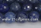CDU325 15.5 inches 10mm faceted round blue dumortierite beads