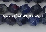 CDU331 15.5 inches 8mm faceted nuggets blue dumortierite beads