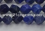 CDU337 15.5 inches 8mm faceted nuggets blue dumortierite beads