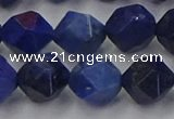 CDU339 15.5 inches 12mm faceted nuggets blue dumortierite beads