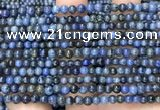 CDU350 15.5 inches 4mm round blue dumortierite beads wholesale