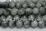 CEE20 15.5 inches 8mm faceted round eagle eye jasper beads wholesale