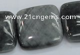 CEE62 15.5 inches 30*30mm square eagle eye jasper beads wholesale