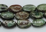 CEM14 15.5 inches 12*16mm oval emerald gemstone beads wholesale