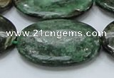 CEM15 15.5 inches 30*40mm oval emerald gemstone beads wholesale