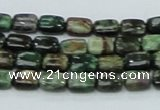 CEM16 15.5 inches 6*8mm rectangle emerald gemstone beads wholesale