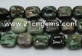 CEM22 15.5 inches 10*10mm square emerald gemstone beads wholesale