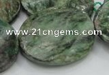 CEM26 15.5 inches 30*40mm twisted oval emerald gemstone beads