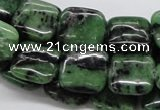 CEP15 15.5 inches 15*15mm square epidote gemstone beads wholesale