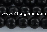 CEY05 15.5 inches 12mm round black ebony wood beads wholesale