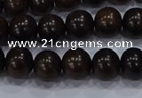 CEY52 15.5 inches 8mm round ebony wood beads wholesale