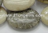 CFA14 15.5 inches 30*40mm oval chrysanthemum agate gemstone beads