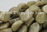 CFA22 15.5 inches 10*14mm twisted teardrop chrysanthemum agate beads