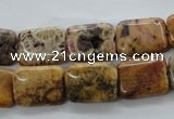 CFC115 15.5 inches 10*14mm rectangle fossil coral beads wholesale