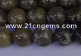 CFC214 15.5 inches 12mm round grey fossil coral beads wholesale