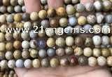 CFC322 15.5 inches 8mm round fossil coral beads wholesale