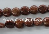 CFC78 15.5 inches 10mm flat round fossil coral beads wholesale