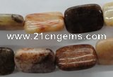 CFC98 15.5 inches 13*18mm rectangle fossil coral beads wholesale