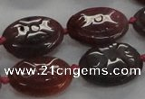 CFG1131 15.5 inches 18*25mm carved oval agate gemstone beads