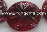 CFG1160 15.5 inches 45mm carved flower agate gemstone beads