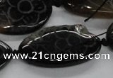 CFG1176 15.5 inches 20*40mm � 25*45mm carved freeform agate beads